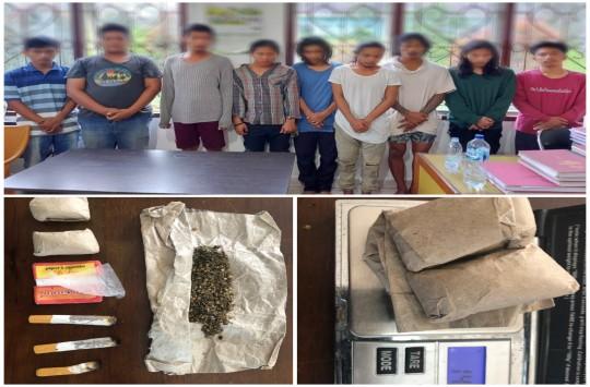 Asik Menghisap Ganja, 9 Pria Asal Simalungun Ditangkap Polisi