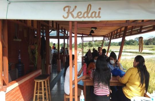 Hits di Siantar, Ide Kedai Kopi Sawah Ternyata Karena Covid
