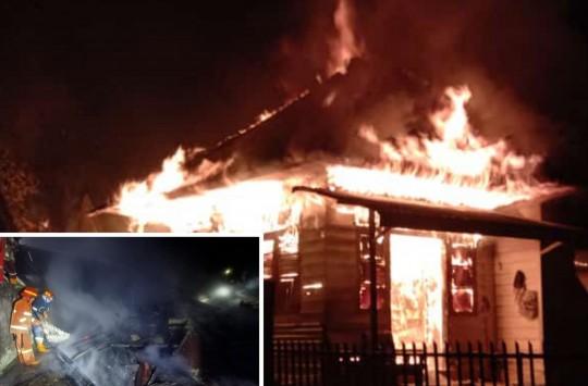Rumah Dunan Silitonga Terbakar, 9 Ekor Babi Selamat